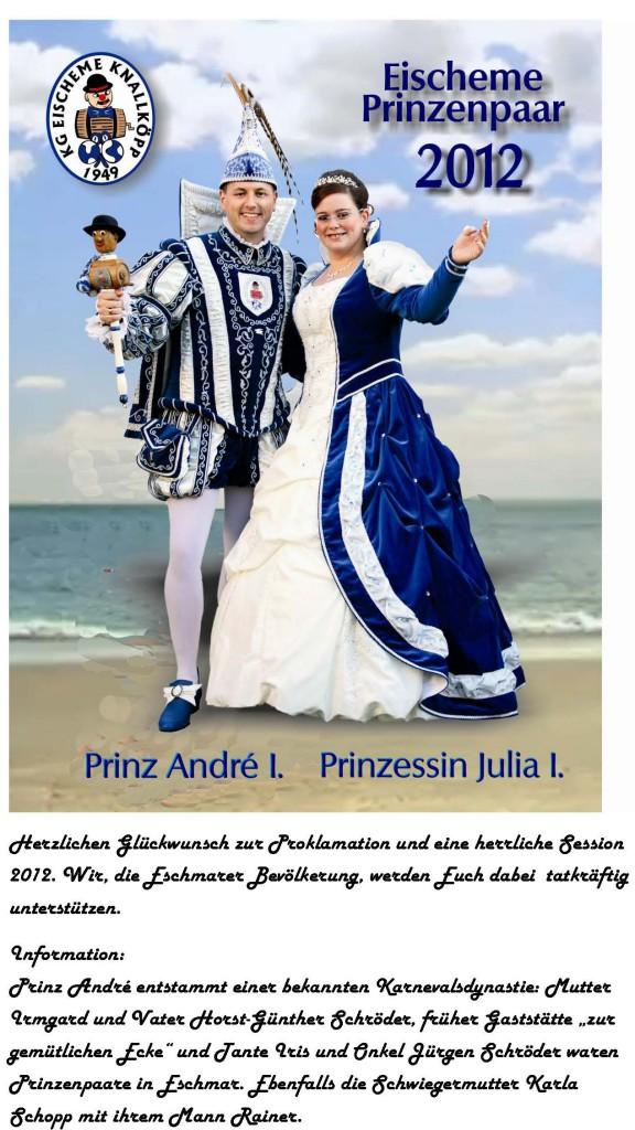 Eischeme Prinzenpaar 2012